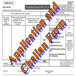 Educators Jobs Application and Challan Form 32-A for 2015