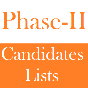 Phase II List of Eligible and Rejected Candidates for Educators NTS Test