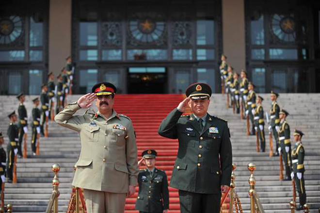 Pak Army Chief Visited China Army Headquarter