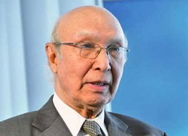 Pakistan Wants Good Relations with India Sartaj Aziz