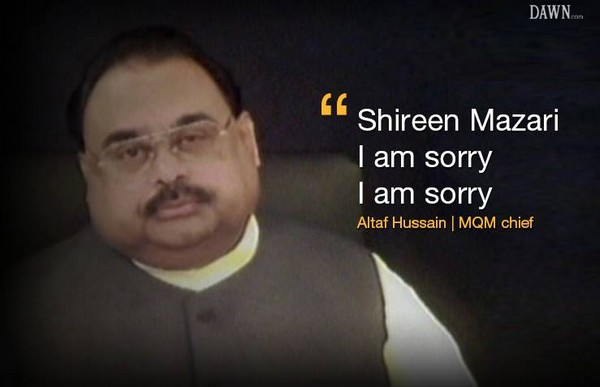Altaf Hussain and Sorry