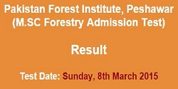 NTS Result M.SC Forestry Admission Test