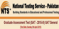 NTS Result GAT General 2015-III