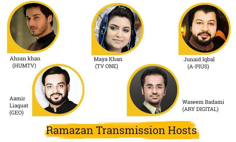 Hosts of the Live Ramzan Transmission 2015