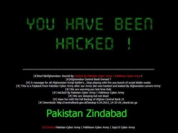 pakistani hackers hacked the indian websites