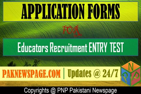 Download Application Forms for Educators NTS Entry Test