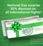 National Day 2016 Promotions for International Flights by Saudi Airline
