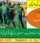 PCB Announces T20 Team Squad for the series against West Indies in Sep, 2016