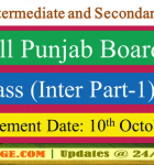 BISE: Inter Part-1 (11th Class) Result will be declared on 10th OCT, 2016