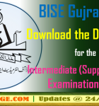 BISE Gujranwala: Download the Date Sheet for the Intermediate Supplementary Examination 2016
