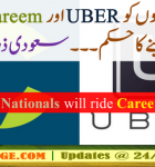 Non-Saudi Citizens are not allowed to work with Careem and Uber