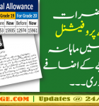 Govt Increases the professional allowance of Doctors by 4500 rupees