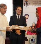 CM distributed Laptops and announces Rs. 500 million for ITU LHR