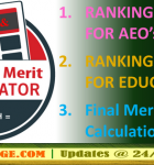 Ranking Criteria: Merit Calculation formula for Educators' Final Merit Listing