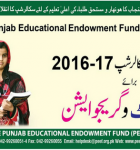 Apply for PEEF Inter and Graduation Level SQ Scholarships 2016-17
