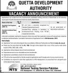 Jobs in Quetta Development Authority through NTS Pakistan