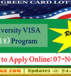 U.S. announces Green Card Lottery DV-2018 Visa Program officially