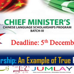Apply Online for CM Chinese Language Scholarships BATCH-III before 5th Dec