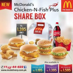 McDonalds Pakistan Launches Chicken-N-Fish Plus Share Box