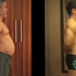 Video of Aamir Khan's body transformation for Dangal Movie