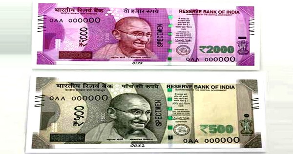 New Currency Notes of Rs. 500 and Rs. 2000 in India