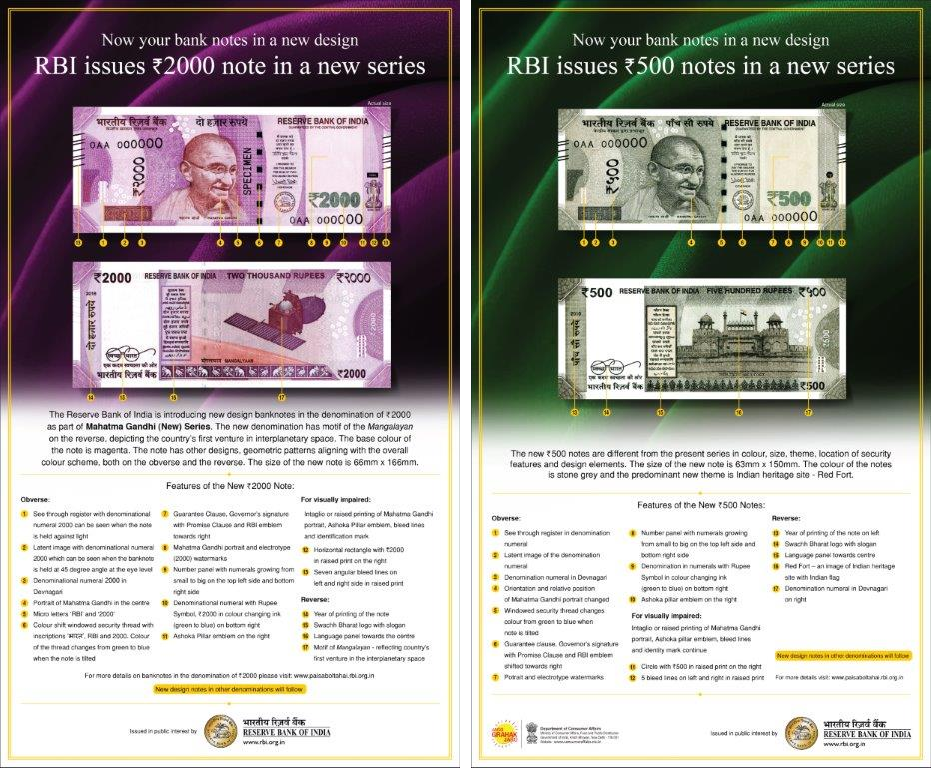 rs-500-and-rs-2000-new-currency-notes-fo-india
