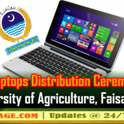 Laptop Distribution Ceremony at Faisalabad on 24-01-2018