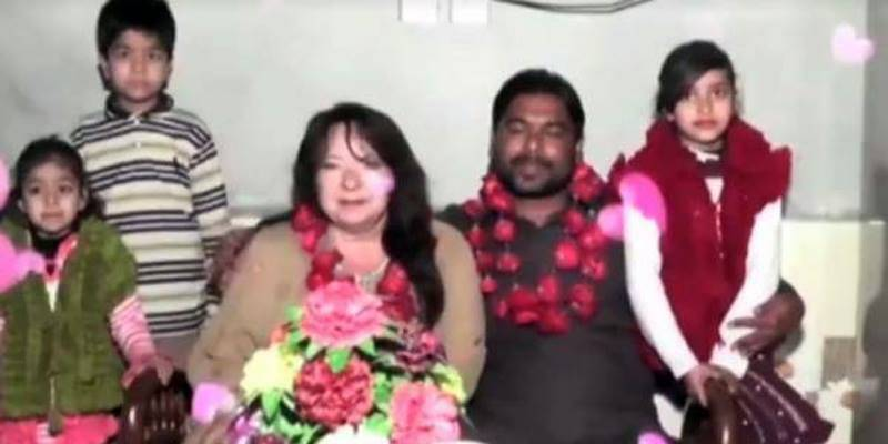 Canadian woman came to Hafizabad, Pakistan to marry with her